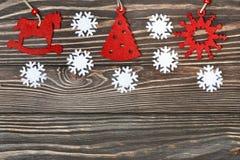Snowflakes border Royalty Free Stock Photos