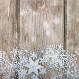 Snowflakes border Stock Photo