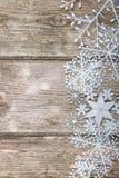 Snowflakes border Stock Photography