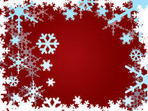 Snowflakes on burgundy Royalty Free Stock Photography