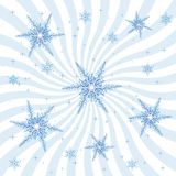 Snowflakes and Burst Stock Image