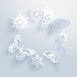 Snowflakes are the butterflies of winter. Stock Photos