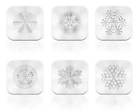 Snowflakes button Stock Photography