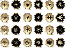 Snowflakes buttons Royalty Free Stock Photography