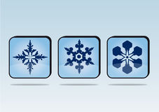Snowflakes buttons Royalty Free Stock Image