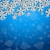 Snowflakes card stock illustration