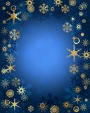 Snowflakes card in blue. Blue christmas background with snowflake Stock Images