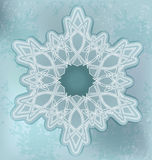 Snowflakes card with grunge background Stock Image