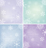 Snowflakes card with grunge background Stock Photo