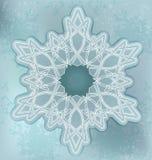 Snowflakes card med grungebakgrund Fotografering för Bildbyråer