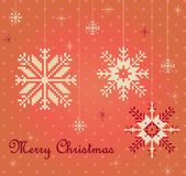 Snowflakes card vector Royalty Free Stock Photo