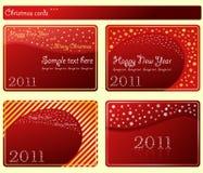 Snowflakes cards christmas stars set. Snowflakes cards 2011 christmas stars set. Vector illustration royalty free illustration