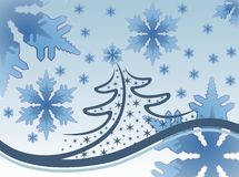 Snowflakes and Christmas Stock Image