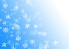 SNOWFLAKES. CHRISTMAS BACKGROU Stock Image