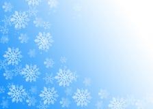 SNOWFLAKES. CHRISTMAS BACKGROU Stock Photo
