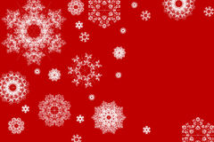 Snowflakes Christmas background stock photo