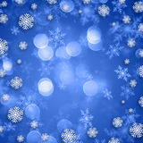 Snowflakes on Christmas background Royalty Free Stock Images