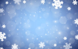 Snowflakes christmas background, blue variant Stock Photography