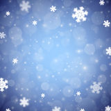 Snowflakes christmas background, blue variant Royalty Free Stock Photo