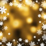 Snowflakes christmas background, illustration. Snowflakes christmas bokeh background, vector illustration Stock Images