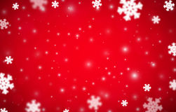 Snowflakes christmas background, red variant Royalty Free Stock Photos