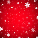 Snowflakes christmas background, red variant Royalty Free Stock Image