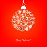 Snowflakes Christmas ball Stock Photos
