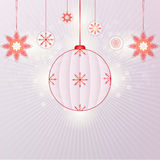 Snowflakes and christmas balls Stock Images