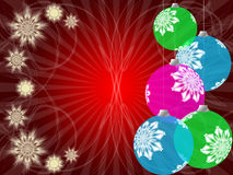 Snowflakes and Christmas Balls Stock Photo