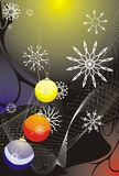 Snowflakes and Christmas balls. Abstract backgroun Royalty Free Stock Images