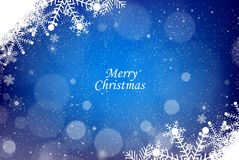 Snowflakes Christmas Blue Background Royalty Free Stock Images