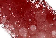 Snowflakes Christmas Blue Background Stock Images