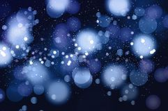 Snowflakes Christmas Blue Background. Vector Stock Photo