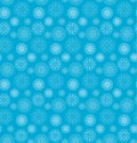Snowflakes Christmas Blue Background Royalty Free Stock Photography