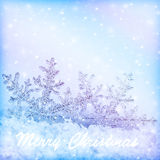 Snowflakes christmas border Royalty Free Stock Photography
