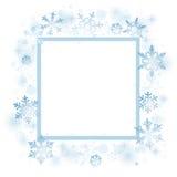 Snowflakes Christmas card Royalty Free Stock Image