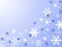 Snowflakes. Christmas card with snowflakes on blue background Royalty Free Stock Photography