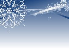 Snowflakes Christmas Design Royalty Free Stock Photos