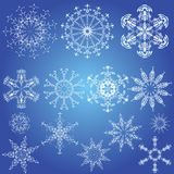 Snowflakes, Christmas design elements Royalty Free Stock Photography