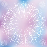 Snowflakes, Christmas design elements. On a ice background Stock Images