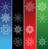 Snowflakes, christmas frames Royalty Free Stock Image