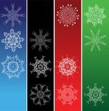 Snowflakes, christmas frames Royalty Free Stock Image