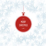Snowflakes Christmas Holiday Vector Background Stock Photography