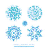 Snowflakes Christmas icons. Stock Photos