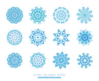 Snowflakes Christmas icons. Stock Image