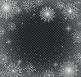 Snowflakes. Christmas and New Year background royalty free stock image