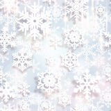 Snowflakes. Christmas and new year vector design. Snowflakes. Christmas and new year seamless background royalty free illustration