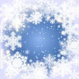 Snowflakes. Christmas and new year vector design Stock Photo