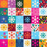 Snowflakes Christmas pattern Stock Images