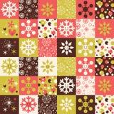Snowflakes Christmas pattern Royalty Free Stock Photos